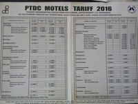PTDC Motel Rates for Year 2016